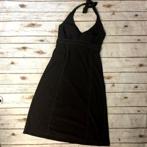 Athleta Brown Pack Anywhere Halter Dress